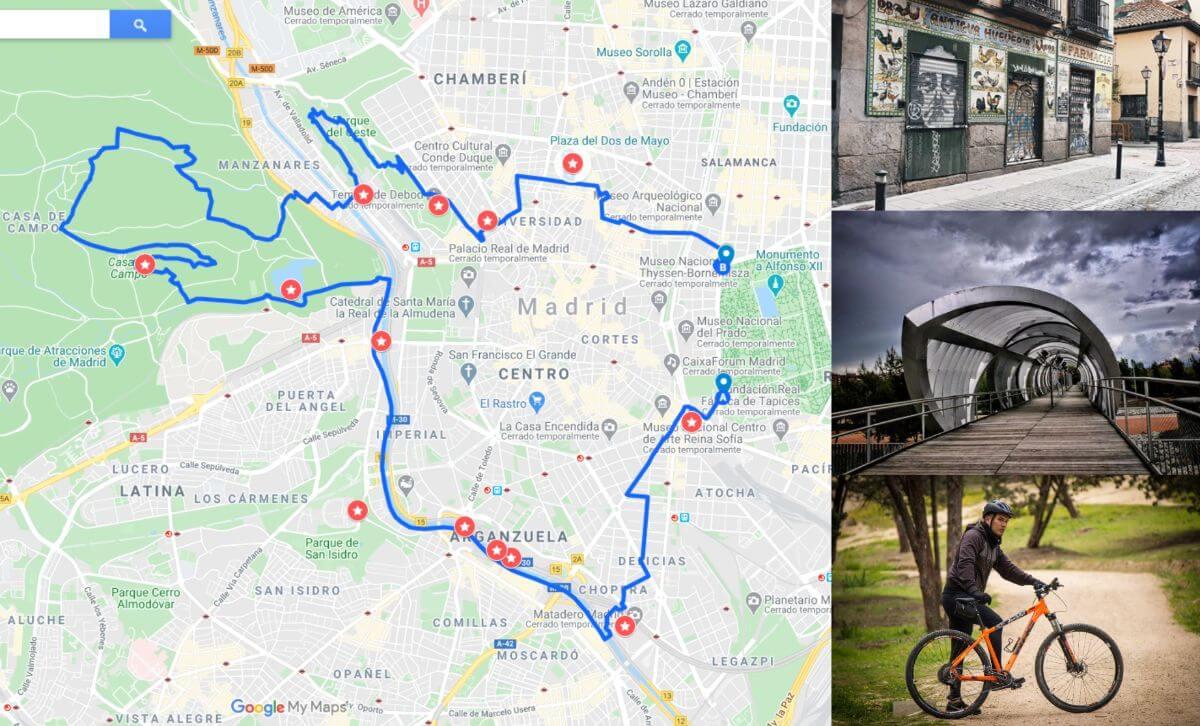Rutas para descubrir la ciudad de Madrid en bici. zona oeste