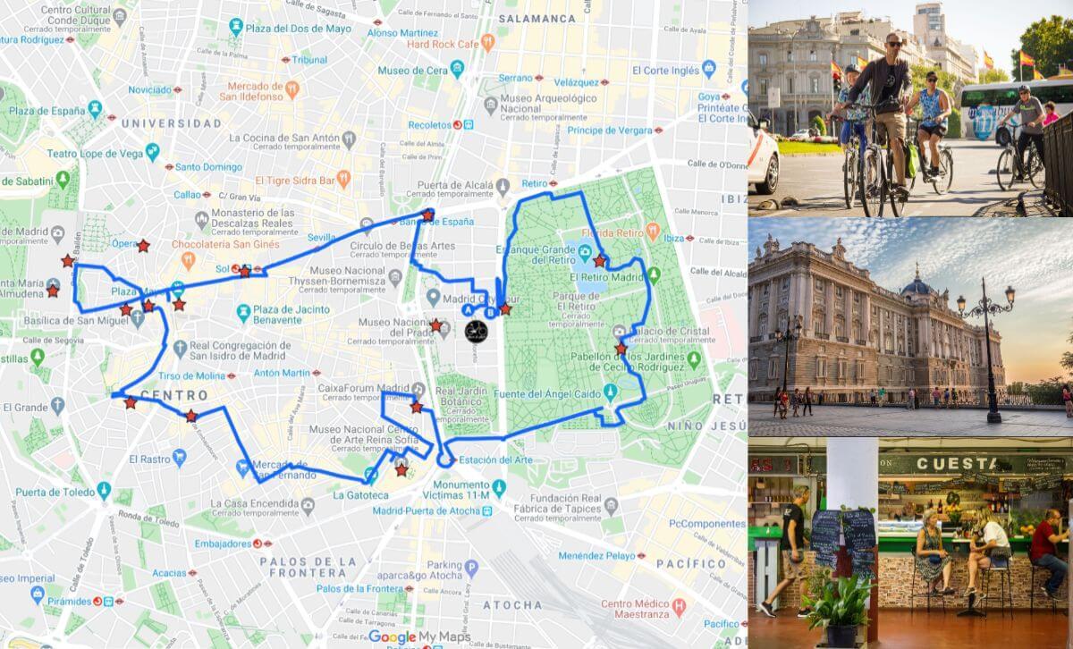 ruta madrid centro en bici