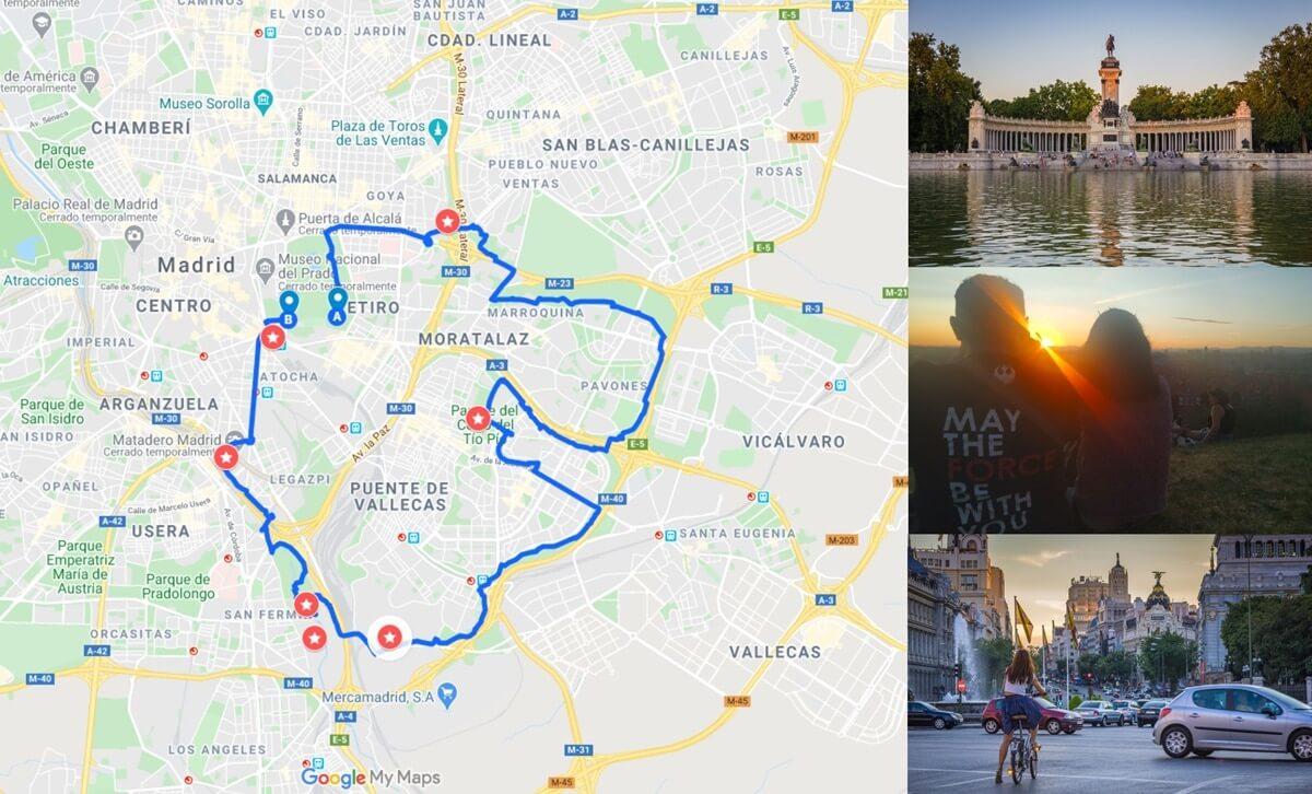 Rutas para descubrir la ciudad de Madrid en bici. zona este