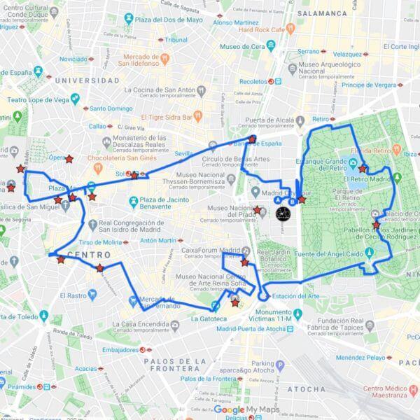 ruta en bicicleta madrid centro